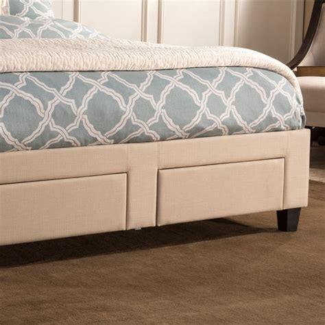 twin full queen  king size duggan front storage bed  rails  linen beige set includes