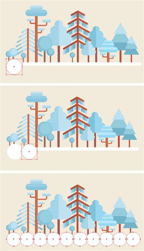 tutorial flat design illustrator how to create a flat winter scene in adobe illustrator