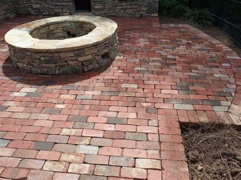 Brick Patio With Pit by Outdoor Pit Pavers And