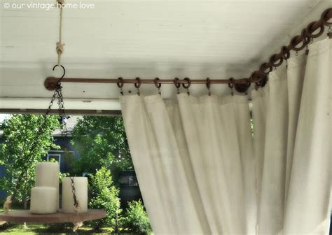 how to spray paint curtain rods our vintage home love back side porch ideas for summer