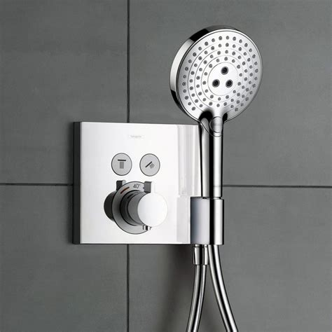 Concealed Electric Shower Hansgrohe Showerselect 2 Outlet Shower Mixer With Shower