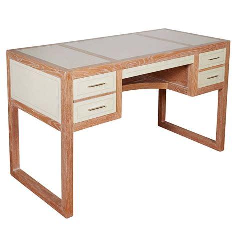Beni Studio Personal Desk In Parchment Covered Oak For Oak Studio Desk