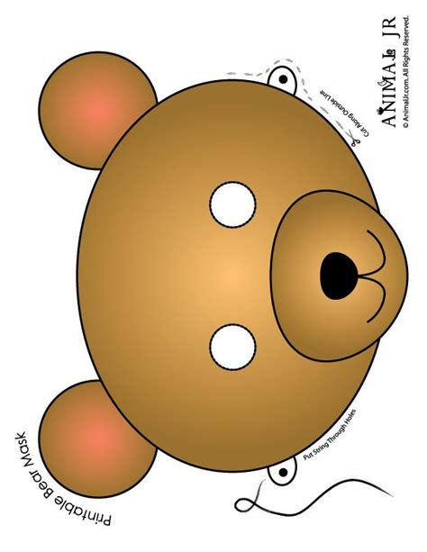 printable brown eyes printable animal masks bear mask brown bear mask to print