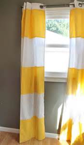 Yellow Curtains For Nursery Modern Stripe Curtains In Lemon Yellow Cabana Wide Stripe Drapes Modern Home Nursery Decor