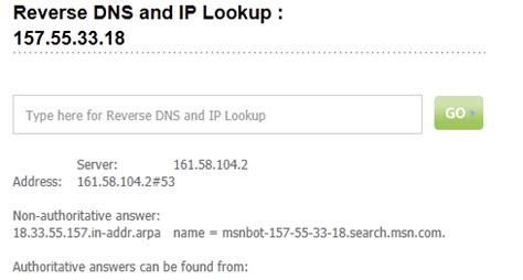 Ip Address Dns Lookup How To Verify Bingbot Webmaster Tools