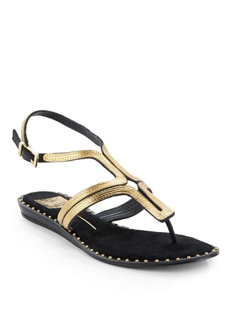 flat embellished sandals dolce vita delmy embellished flat sandals in gold black