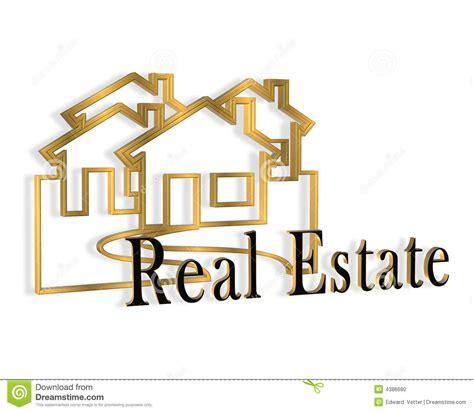 3d real estate logo stock photo image 4386680