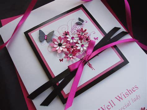 Get Well Handmade Cards - handmade get well card bouquet handmade cards pink posh