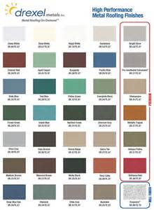 drexel metal roof color chart windy valley exteriors