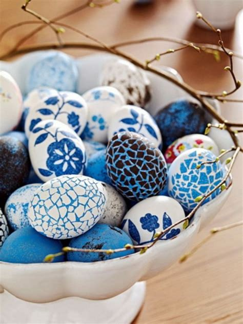 blaue badezimmerfliesen ideen blaue deko ideen zu ostern 15 festliche vorschl 228 ge