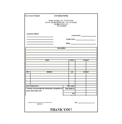 100 mm receipt template for use with receipt printer restaurant receipt template landscaping invoice template 9