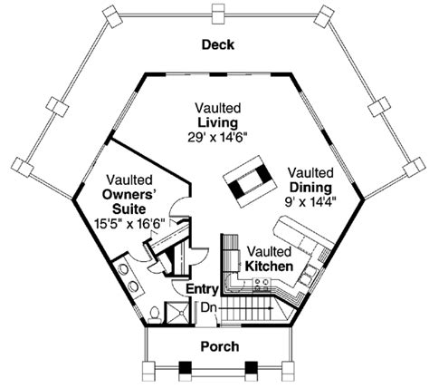 hexagon house floor plans house plan chp 20084 at coolhouseplans com