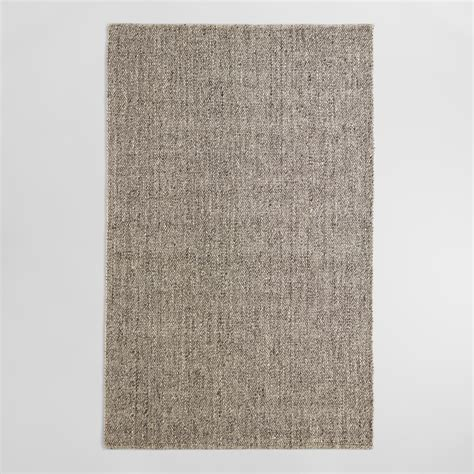 Wool Area Rugs Light Gray Emilie Flatweave Sweater Wool Area Rug World Market