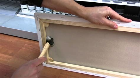 how to do woodwork how to attach canvas wedges