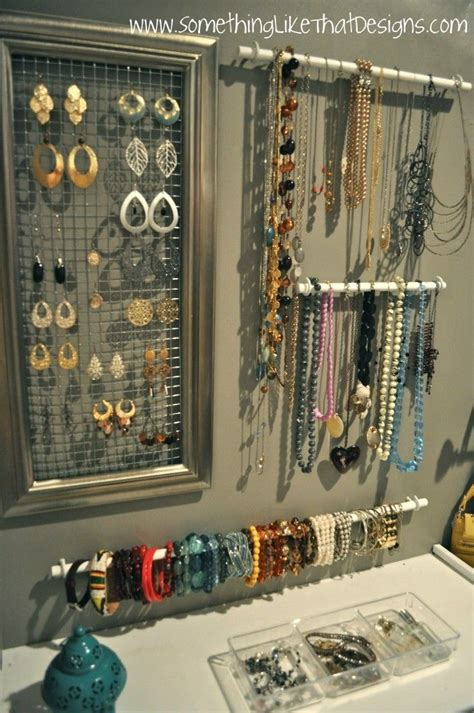 jewelry organization 1000 ideas about jewelry organizer wall on