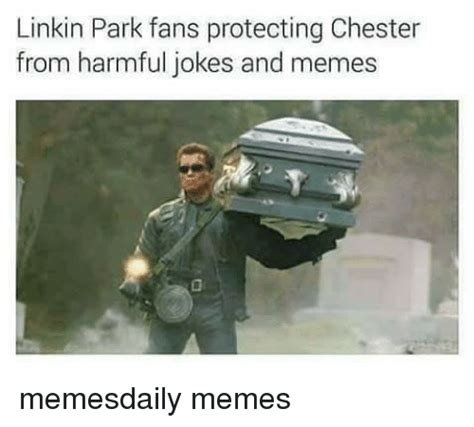 Jokes And Memes - linkin park fans protecting chester from harmful jokes and