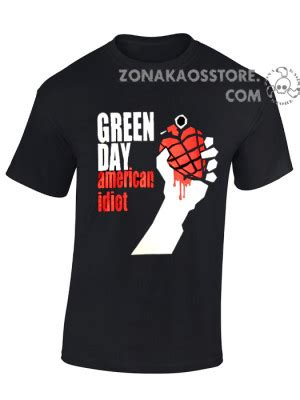 T Shirt Kaos Green Day zona kaos store abbigliamento e accessori alternativi