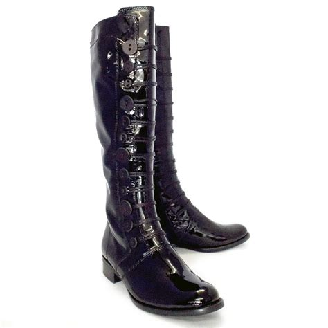 Log In To Win A Longch Black Patent Legende Bag by Gabor Boots Argyll Boot In Black Patent Mozimo