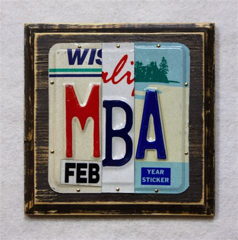 Etsy Mba Gifts by Mba Gift Gift For Graduate License Plate College