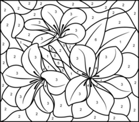 color by number flower coloring pages flowers coloring pages
