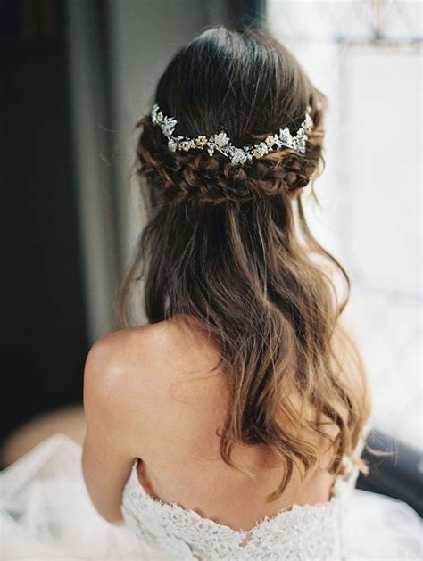 wedding hairstyles half up half down with flowers 40 stunning half up half down wedding hairstyles with