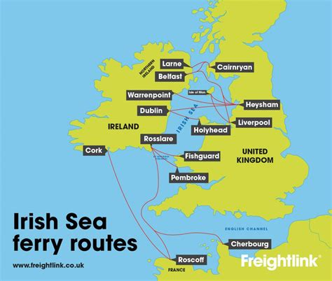 map uk ferry routes increase in sailings on seatruck liverpool dublin service