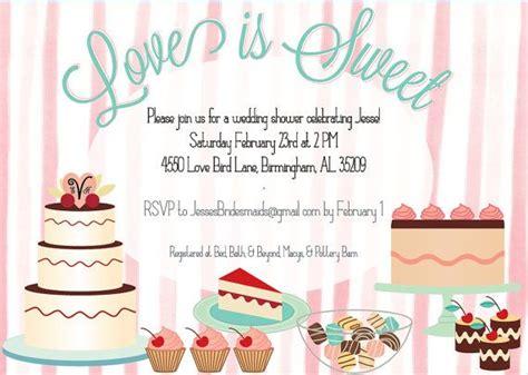 love  sweet dessert themed shower invitation