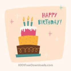 free happy birthday cards with free vectors happy birthday card with cake abstract