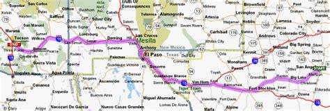 Tx To Az New Mexico Map