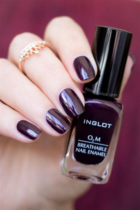 676 Nail Inglot O2m Breathable Nail Enamel Kutek Halal Bisa Untuk Sholat marsala inglot o2m breathable nail review top coat colour and cherries