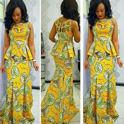 Latest Nigeria Ankara Style Blouse And Skirt | latest ankara styles for ladies in nigeria