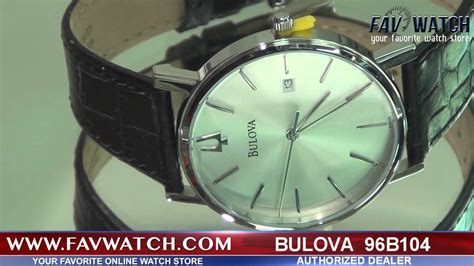 Bulova 96b104 mens bulova 96b104 with black leather