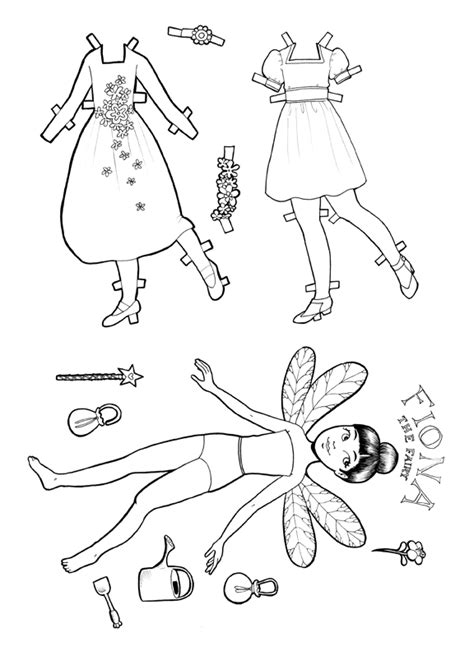 coloring book paper stock printable paper doll fiona the colouring page