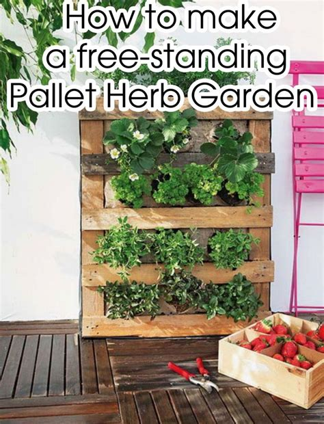 How To Make A Vertical Pallet Herb Garden 17 Best Images About Garden On Pallet Herb