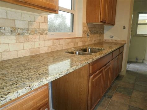 santa cecilia granite countertops with backsplash