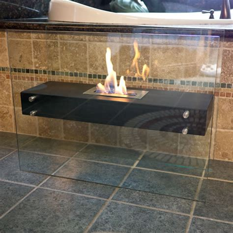 Ethanol Freestanding Fireplace by Nu Freestanding La Strada Ethanol Fireplace Shop Bluworldusa