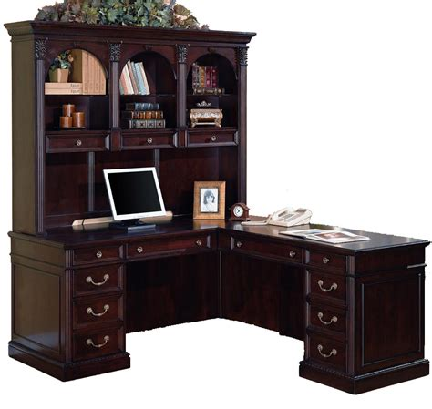 Office Desk And Hutch Cherry Office L Desk And Hutch