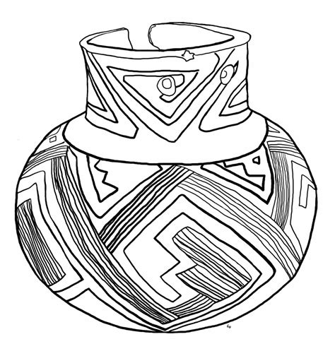 pottery pot coloring pages sketch coloring page