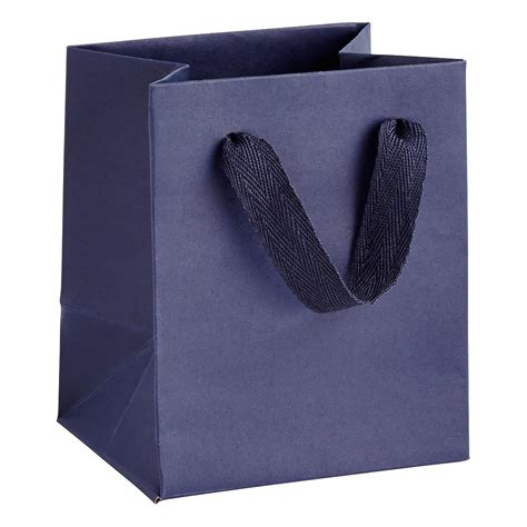 Goodie Bag Bantal Bulu Mini mini navy blue manhattan recycled gift bag the container store
