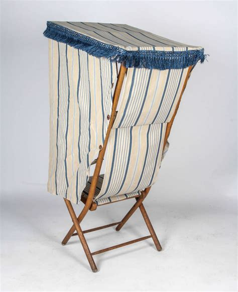 beach chair with awning french beach chair with canopy at 1stdibs
