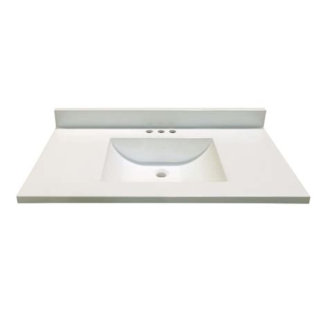 magick woods 37 in w x 19 in d white vanity top with