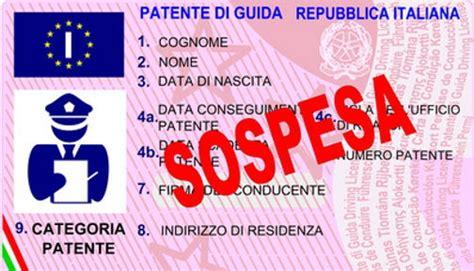 ministero dell interno patente circolazione con patente di guida sospesa polizialocale