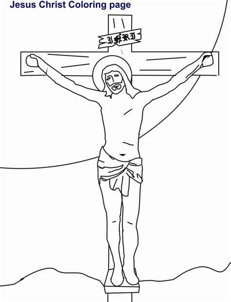 Coloring Pages Free Coloring Pages Of Kids Jesus On The Jesus On The Cross Coloring Page