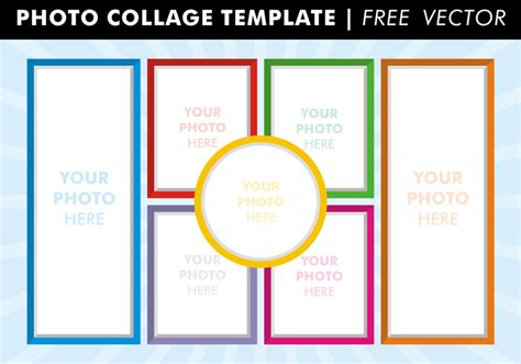 photo templates free photo collage templates vector free vector