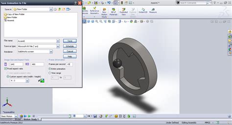 tutorial solidworks motion tutorial basic motion in solidworks grabcad tutorials