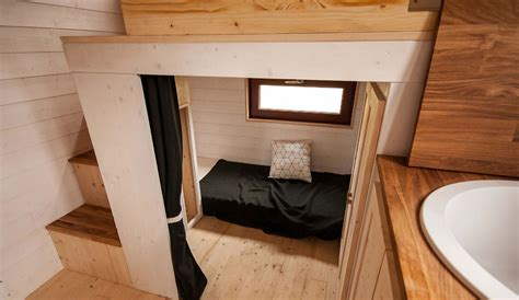 Fully furnished Odyssée tiny house from France easily fits