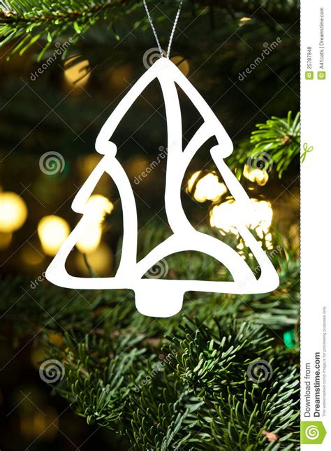 paper cut out ornaments paper cut tree ornament royalty free stock