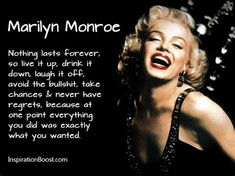 marilyn monroe quote marilyn monroe nothing last forever quotes inspiration boost