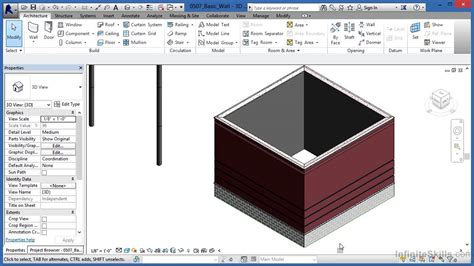 tutorial video revit autodesk revit architecture 2014 tutorial basic wall