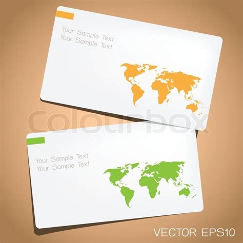 card world business card in world map design stock vector colourbox